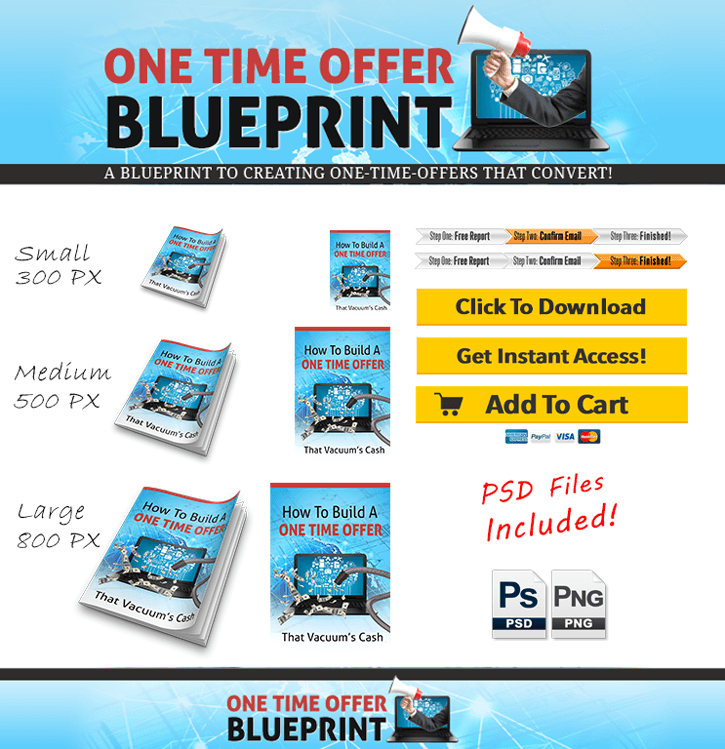 One time offer blueprint primo plr add your style with these fully editable graphics psd source files are included malvernweather Gallery